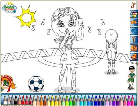 Dibujos para pintar en el ordenador de fútbol | Niña ...