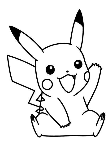 Dibujos Pikachu para dibujar, imprimir, colorear y ...