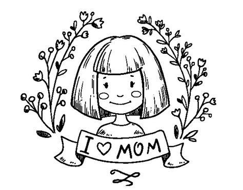 Disegno di I love mom da Colorare   Acolore.com