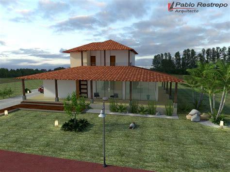 Diseño de casa campestre estilo colonial, planos en linea