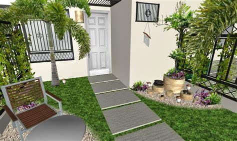 Diseño de un jardín pequeño frente de una casa típica de ...