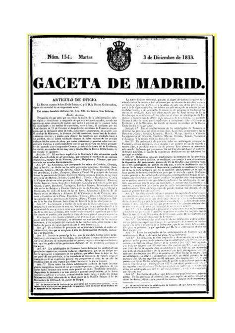 División provincial de España. Real Decreto 30 noviembre ...