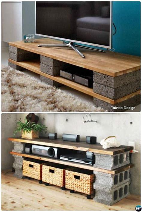 DIY Cinder Block TV Stand Console 10 DIY Concrete Block ...