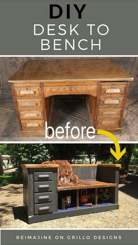 DIY Desk To Bench • Grillo Designs