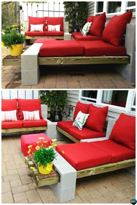 DIY Outdoor Cinder Block Lounge 10 DIY Concrete Block # ...