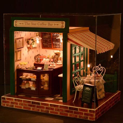 DIY Wooden Doll House With Furniture LED Kit Dollhouse ...