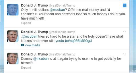 Donald Trump And Mark Cuban Duke It Out On Twitter