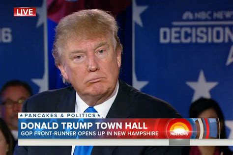 Donald Trump Assures Voters His Hair Is Real During Today ...