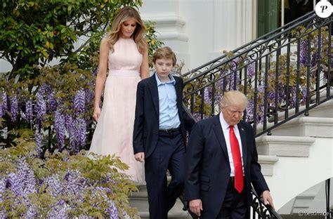 Donald Trump, sa femme Melania Trump et leur fils Barron ...