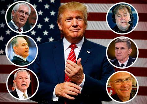 Donald Trump y su gabinete de empresarios millonarios ...