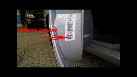 Dónde encontrar el código de color de una Citroen Jumpy ...