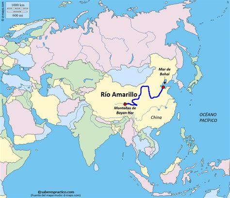 ¿Dónde está el río Amarillo  Huang He ? | Saber es práctico