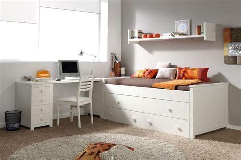 Dormitorio juvenil blanco lacado / moderno con cama ...