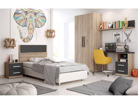 Dormitorio juvenil completo cambrian y grafito