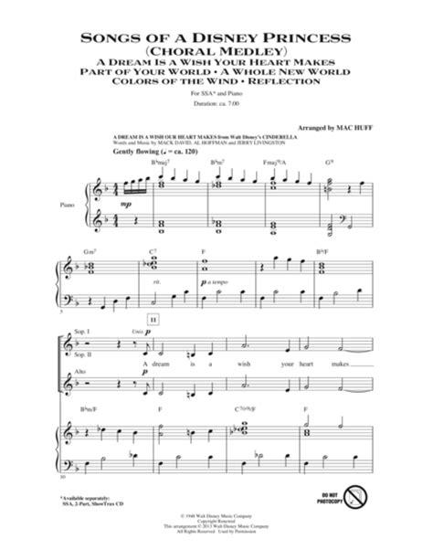Download Songs Of A Disney Princess  Choral Medley  Sheet ...