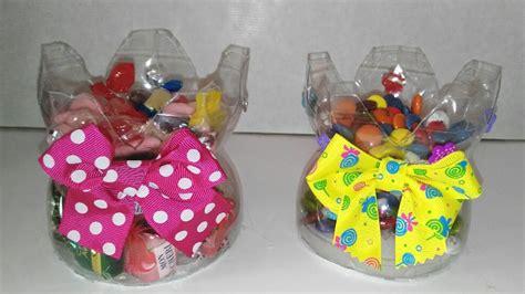 Dulceros con botellas de plastico recicladas manualidades ...