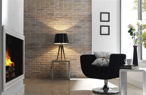 Earthy Whitewashed 'FAUXBRICK' Rustic Brick wall panels ...