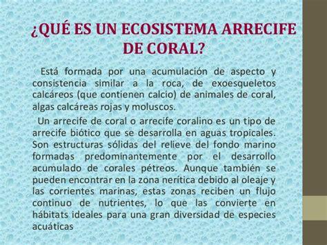 Ecosistema arrecifes de coral