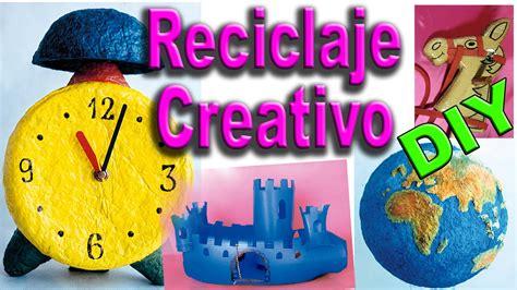 Ejemplos de Reciclaje Creativo. Manualidades con Material ...