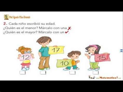 EJERCICIOS DE COMPARACIÓN DE NÚMEROS  Matemáticas Niños 5 ...