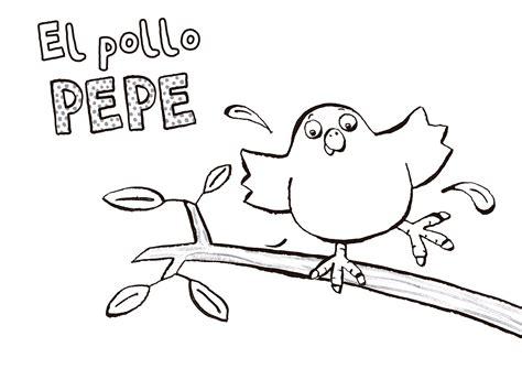 El pollo Pepe y los colores  + dibujos para colorear ...