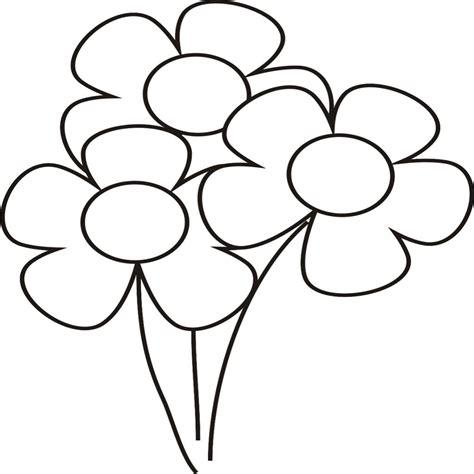 Elegante Dibujos De Flores Para Colorear Faciles