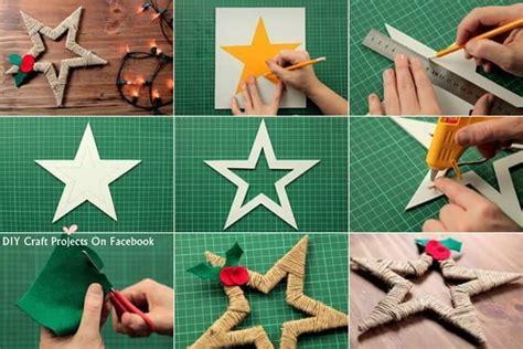 Estrella de navidad con cuerda de pita | Manualidades para ...