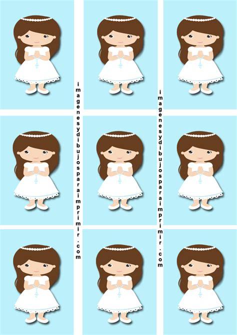 Etiquetas de comunion para niñas