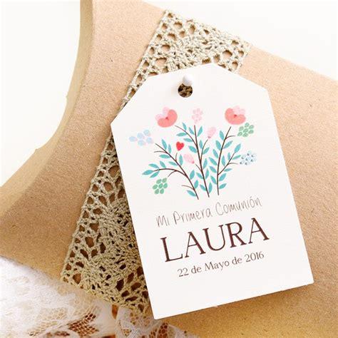 Etiquetas regalo comunion: Flores silvestres