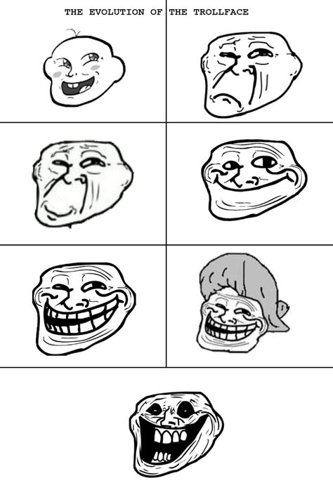 Evolution of the TROLLFACE   Meme by Kazdizzle117 :  Memedroid
