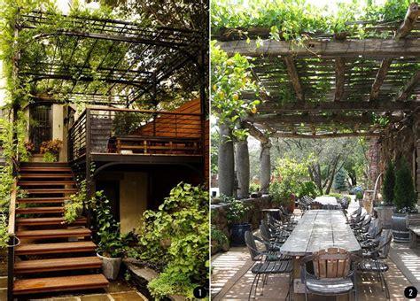 Exteriores con plantas: patios, terrazas, jardines ...