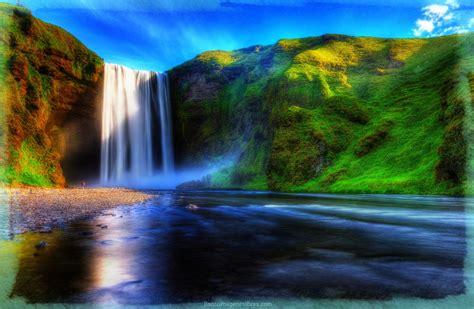 Exuberantes Paisajes Naturales Fotos de Cascadas   Banco ...