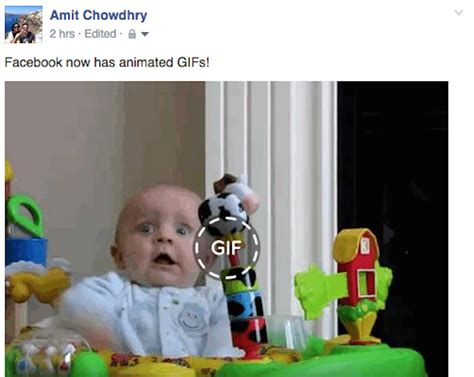 Facebook Starts Supporting Animated GIFs