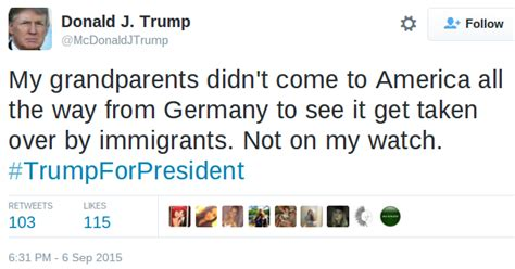 FALSE: Trump Tweets About His Anti Immigration Stance