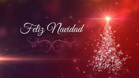 Feliz Navidad Felicitacion Motion Graphics Background Loop ...