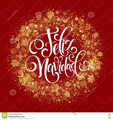 Feliz Navidad Hand Lettering Decoration Text For Greeting ...