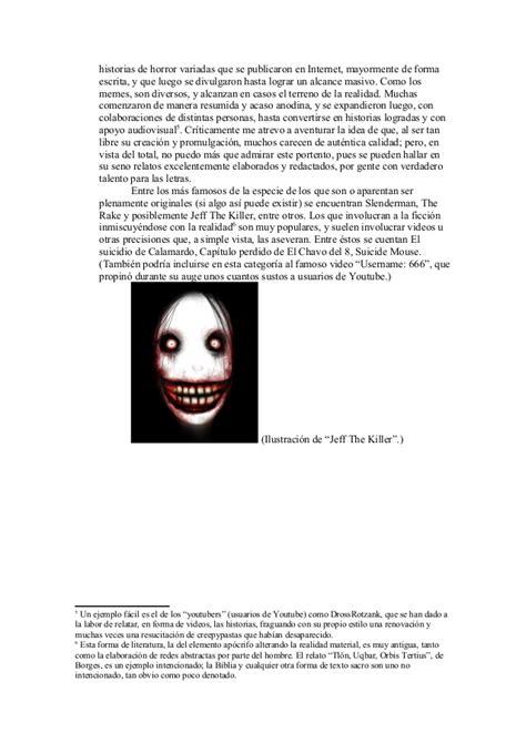 Fenómenos de internet: Creepypastas y memes.