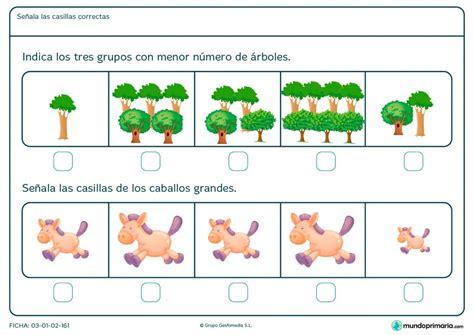 Ficha de comparaciones entre distintas imágenes para niños ...
