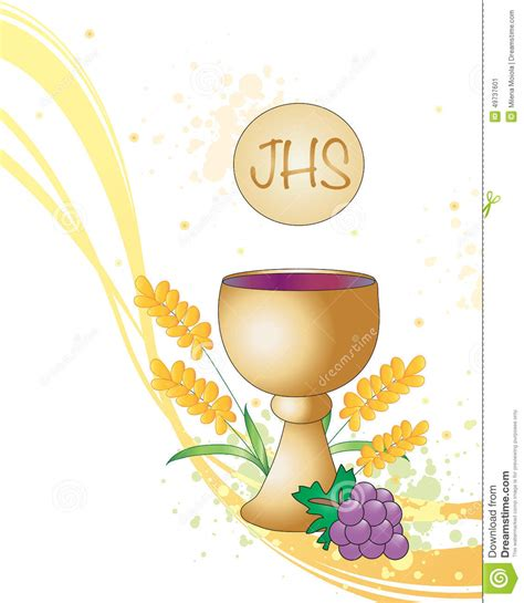 First Communion Stock Illustration   Image: 49737601