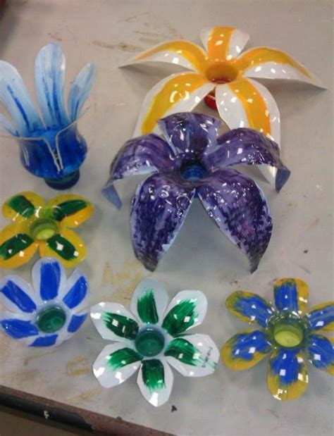 Flores con botellas de plástico | Manualidades para niños