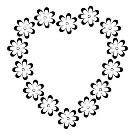 Flores con corazones para colorear e imprimir