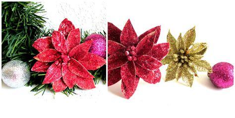 Flores navideñas con cajas recicladas y diamantina ...
