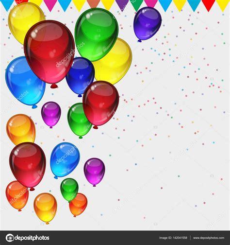 Fondo de fiesta cumpleaños   globos fiestas coloridos ...