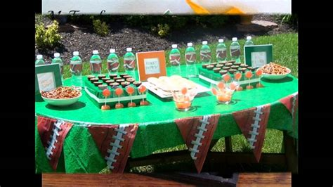 Football themed party decorating ideas   YouTube