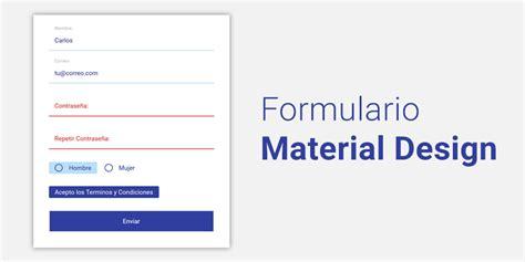Formulario estilo Material Design con HTML y CSS