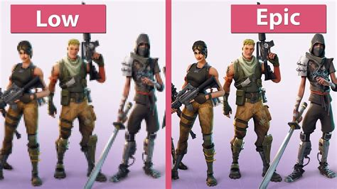 Fortnite – PC 4K UHD Low vs. Epic Graphics Comparison ...