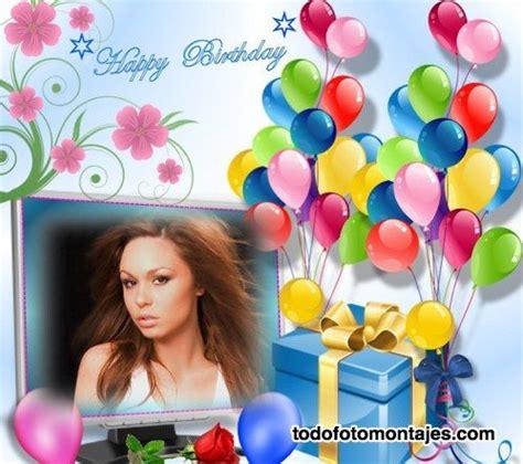 fotomontajes de cumpleaños con muchos globos de colores y ...