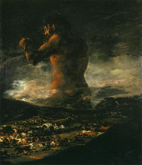 Francisco de Goya. Cuadros: El coloso, o El pánico