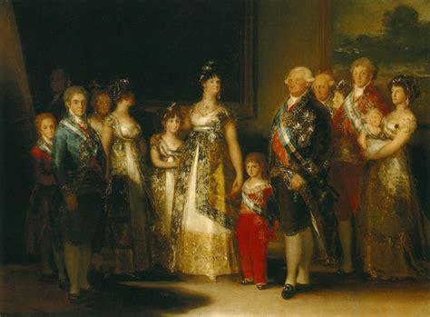 Francisco de Goya. Cuadros: La familia de Carlos IV