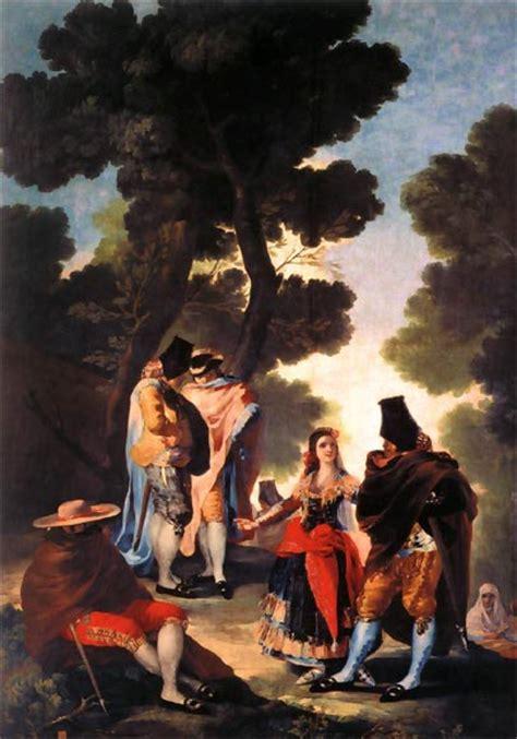 Francisco de Goya. Cuadros: La maja y los embozados